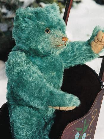 Teal Blue English Farnell Teddy Bear
