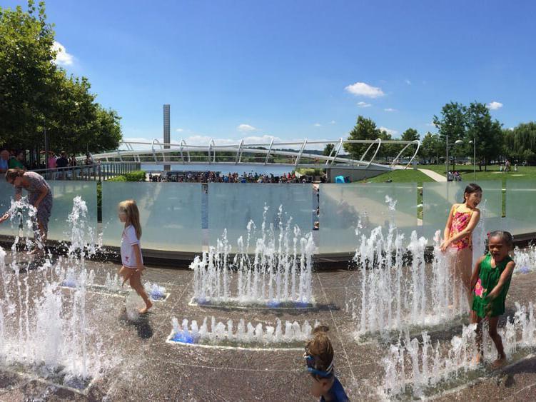 The Yards splash pad park