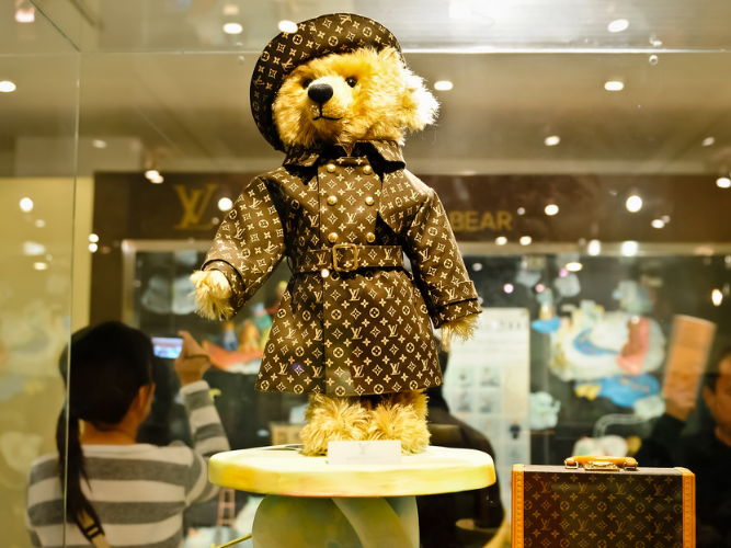 Steiff & Louis Vuitton Teddy Bear