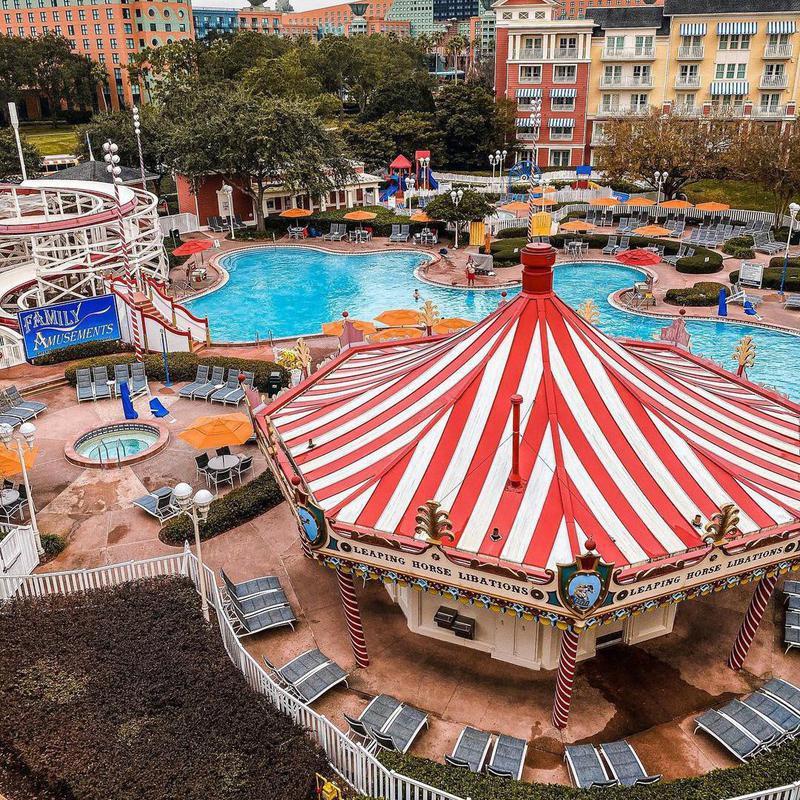 Poolside view of Disney's BoardWalk Villas