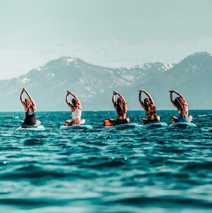 Group of friends on Lake Tahoe