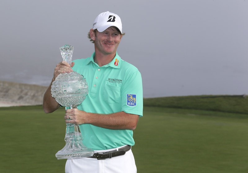 Brandt Snedeker poses with trophy
