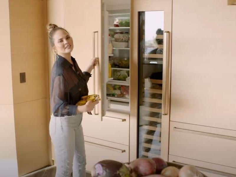 Chrissy Teigen's fridge