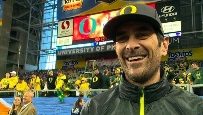 Ty Burrell at University of Oregon football game