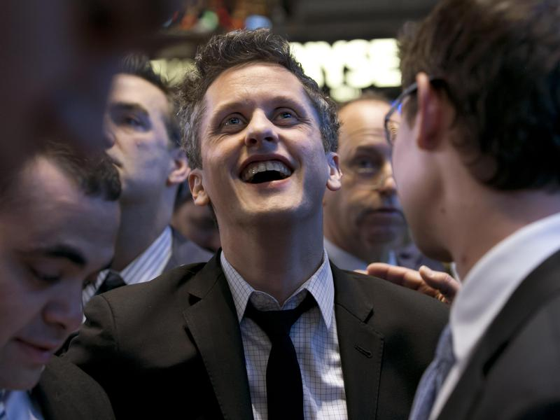 Box CEO Aaron Levie waits for his company's IPO on the floor of the New York Stock Exchange in 2015.