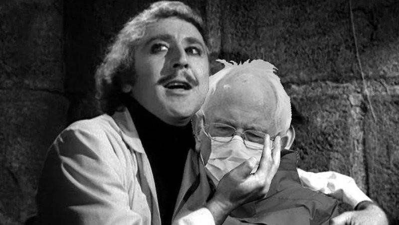 "Bernie Sanders in ""Young Frankenstein"""