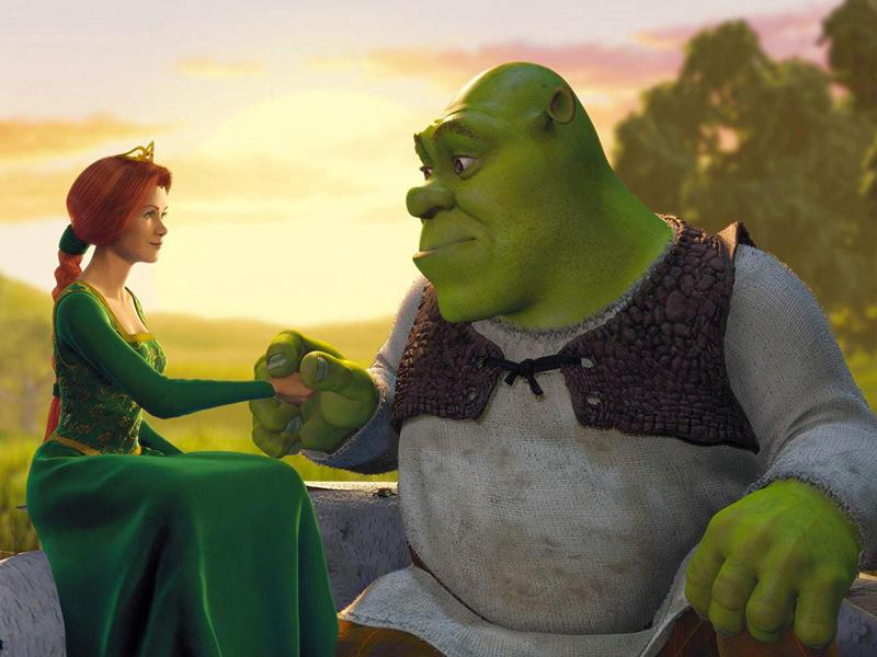 Cameron Diaz and Mike Myers in Shrek (2001)