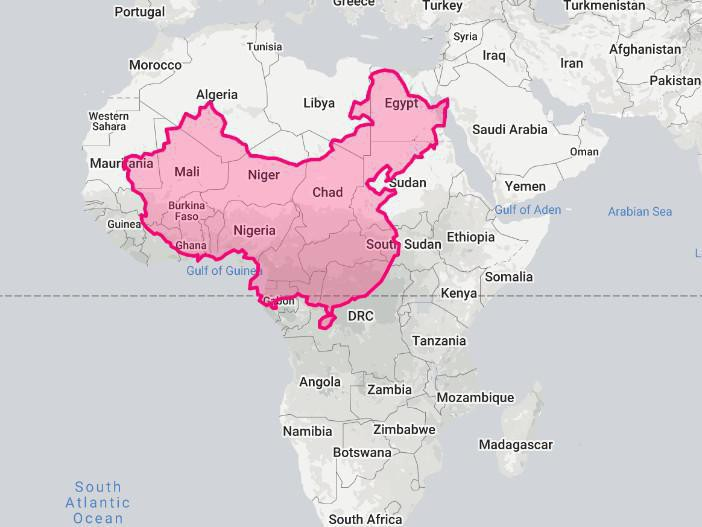 China compared to Africa