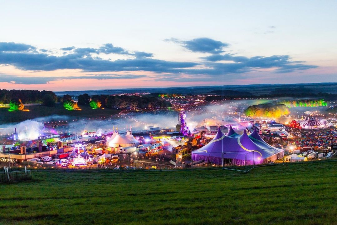 View of Boomtown Fair from Sunset Hill