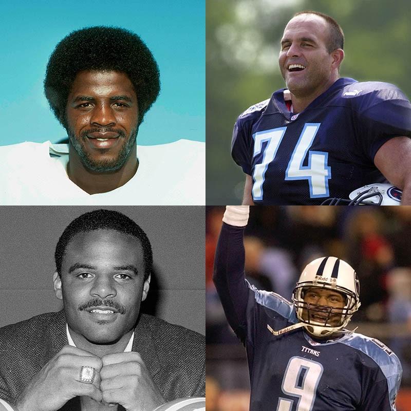 Earl Campbell, Bruce Matthews, Steve McNair, Warren Moon