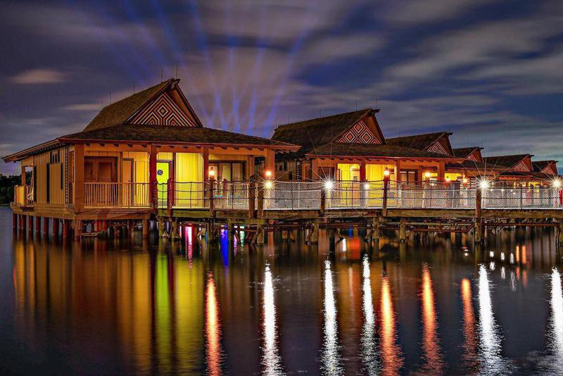 Water front view of Disney's Polynesian Villas & Bungalows