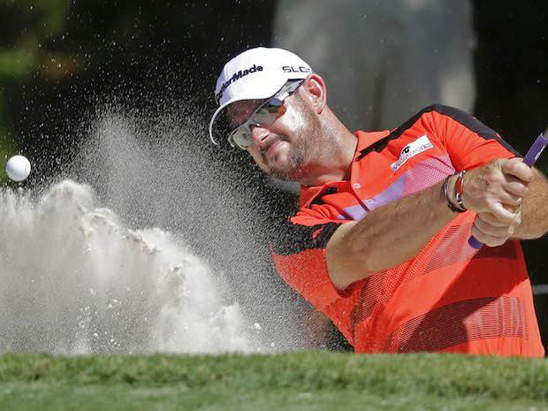 Rory Sabbatini hits out of sand