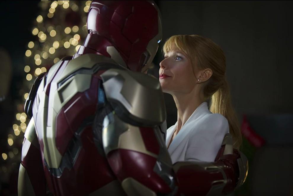 Robert Downey Jr. and Gwyneth Paltrow in Iron Man Three
