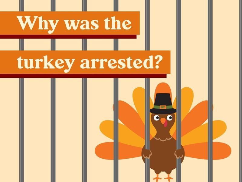 Why was the turkey arrested?