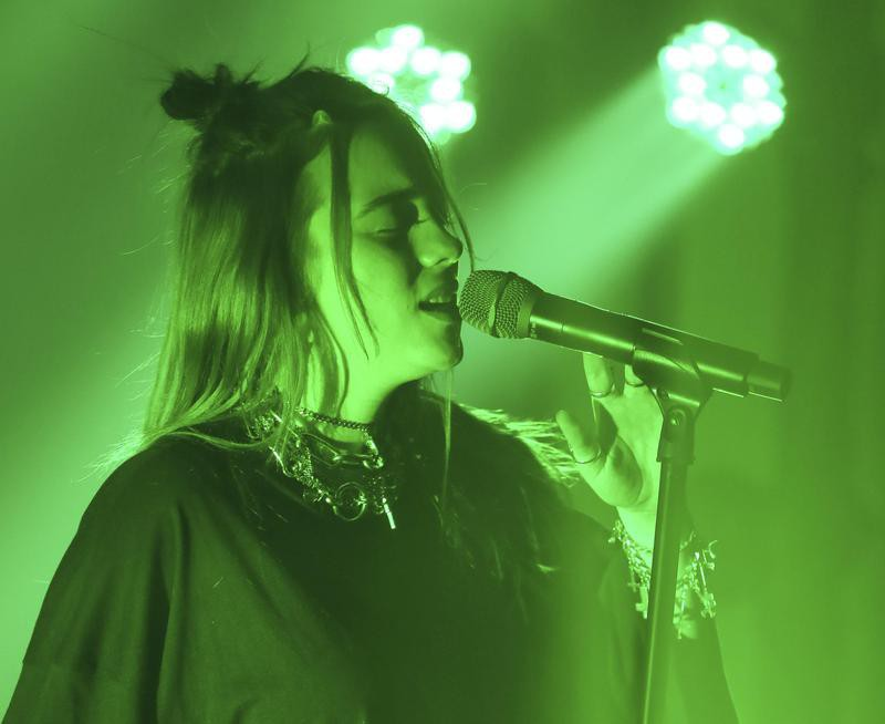 Billie Eilish performs at the Uber Eats House