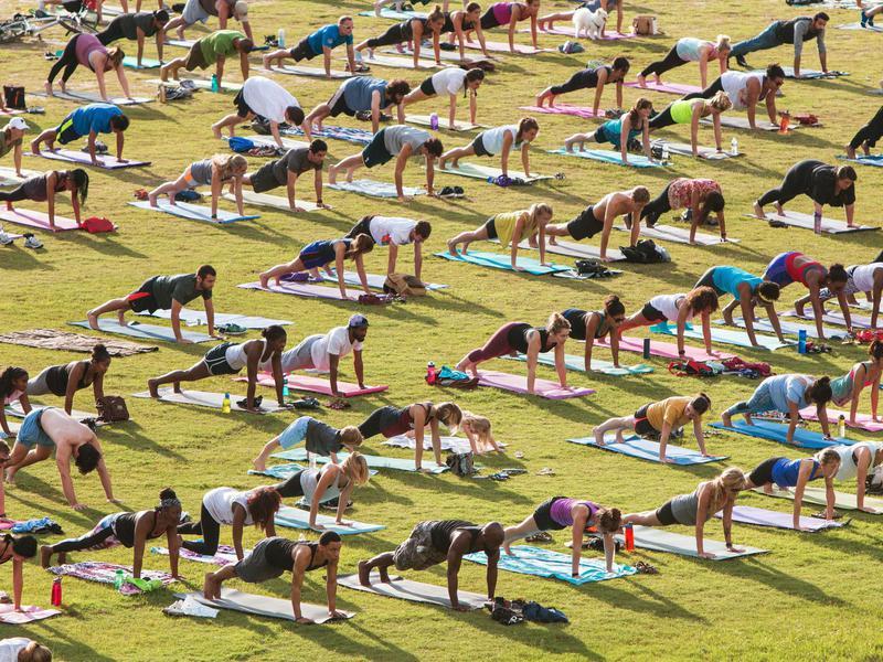 Yoga outside group