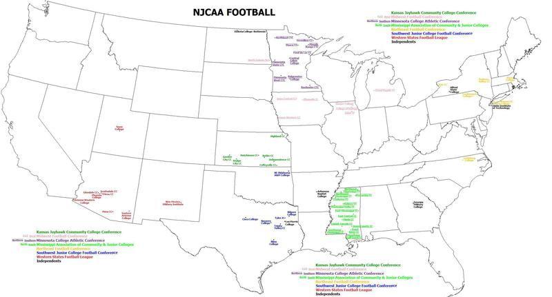 Junior college football teams