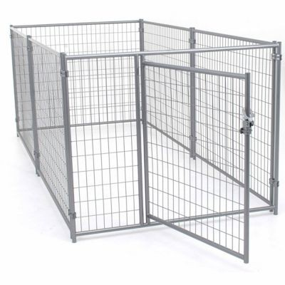 Tractor Supply dog kennel: Lucky Dog Modular Welded Wire Kennel Kit