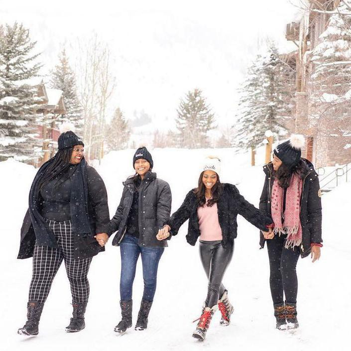 Group of friends in Jackson Hole