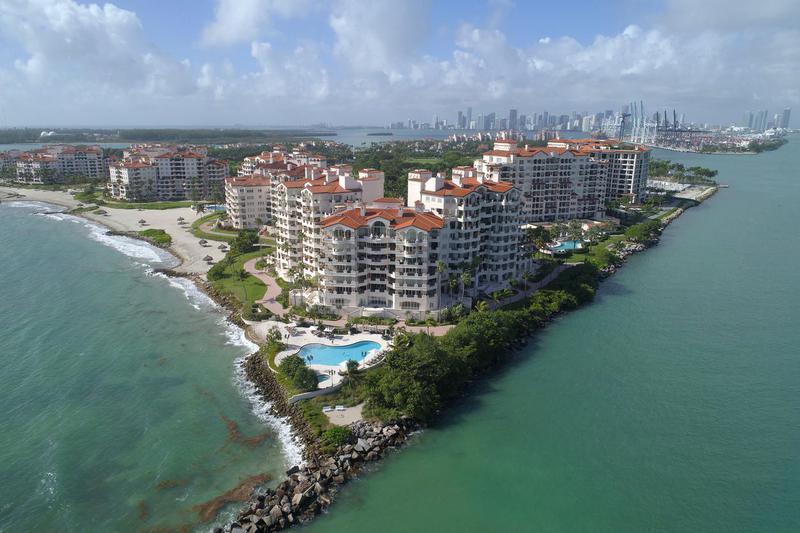 Fisher Island in Miami, Florida