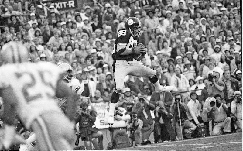 Lynn Swann catches a pass in Super Bowl XIII