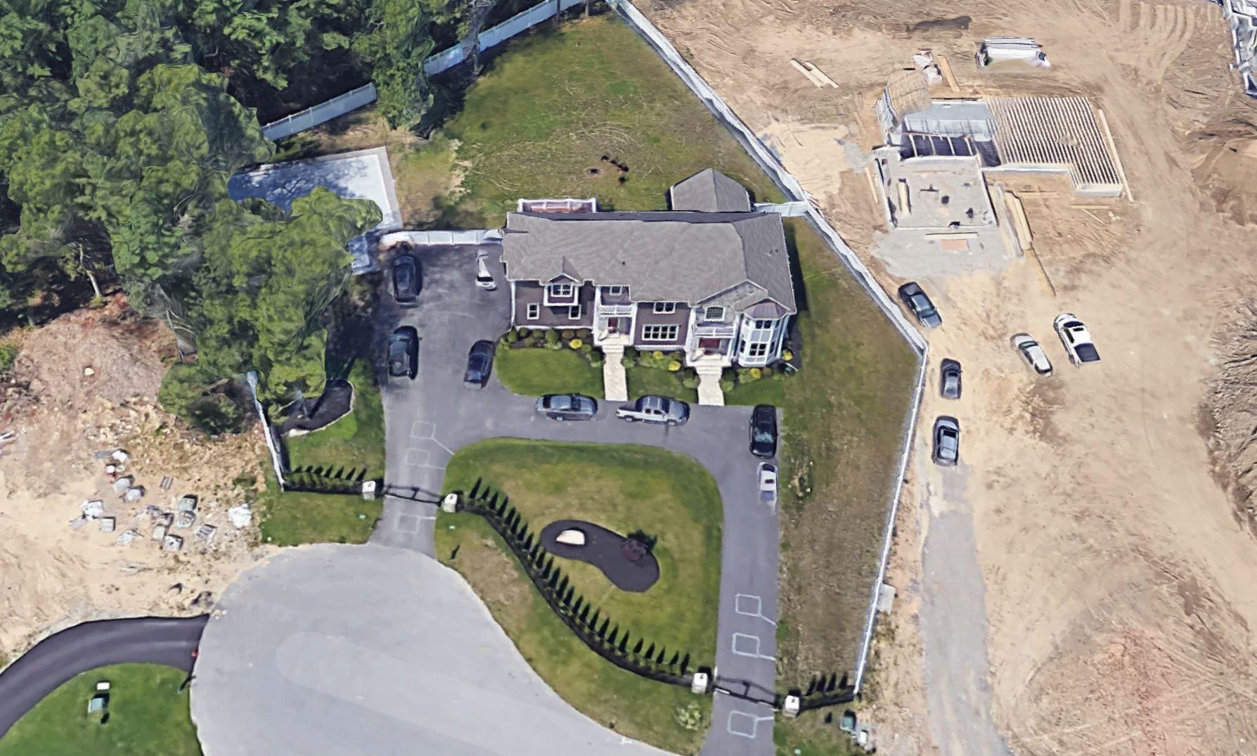Gronk's house in Foxborough, Massachusetts