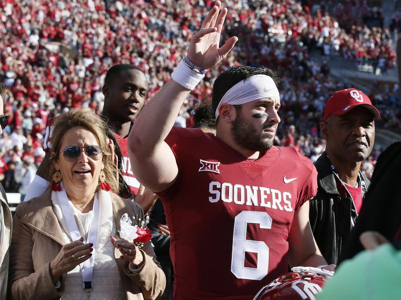 Gina and Baker Mayfield