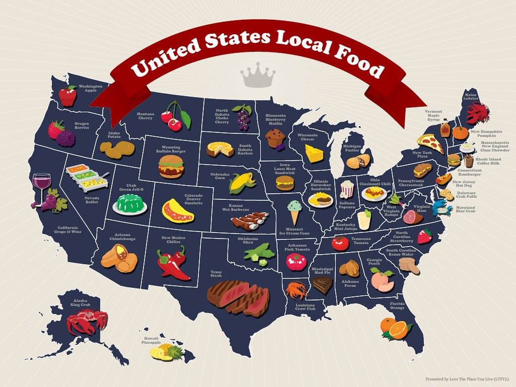 Local food map of the U.S.