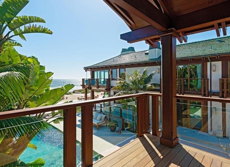 Pierce Brosnan's Malibu estate balcony