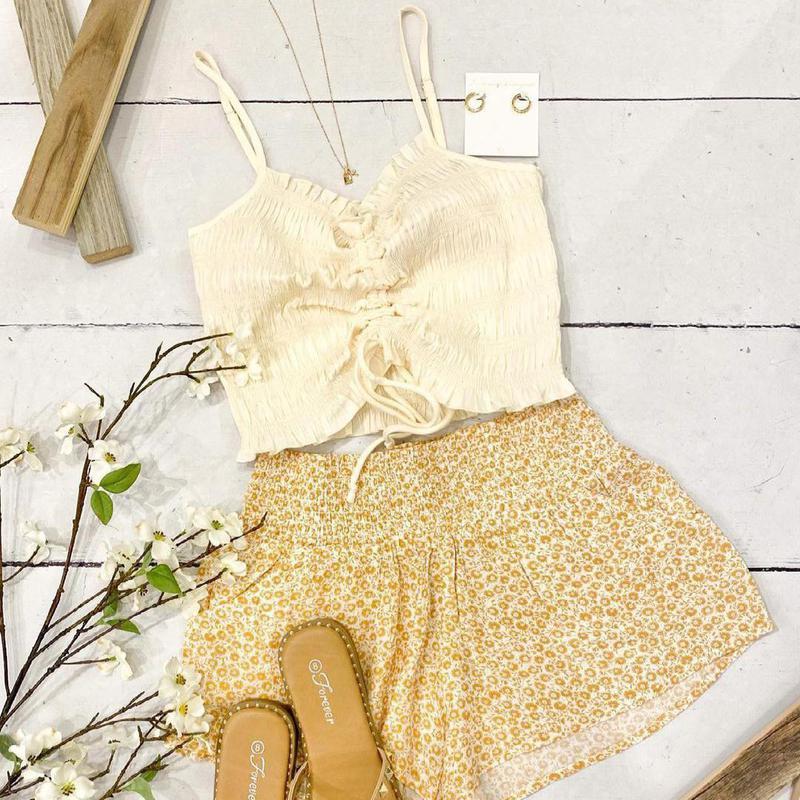 Light yellow summer clothes