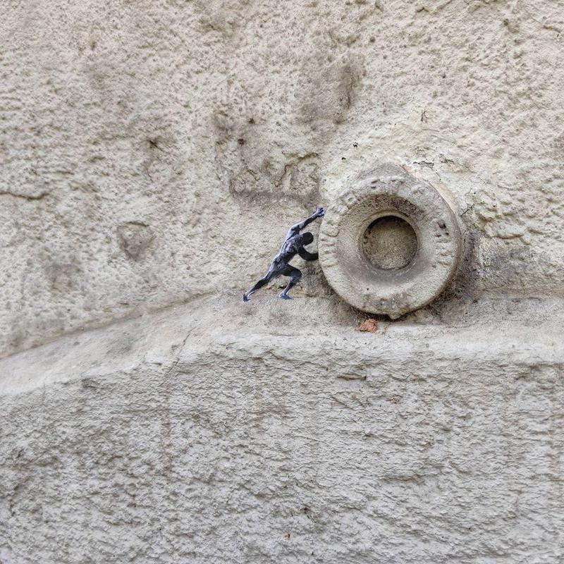 Greek mythology street art in France