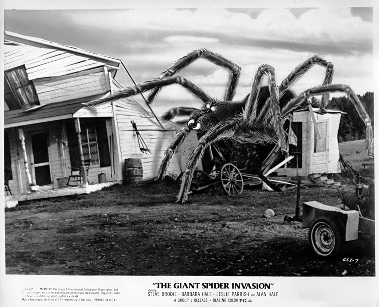"""An ad for """"The Giant Spider Invasion"""""""