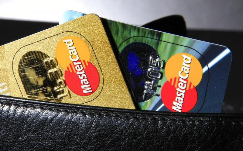 Mastercard credit cards in wallet