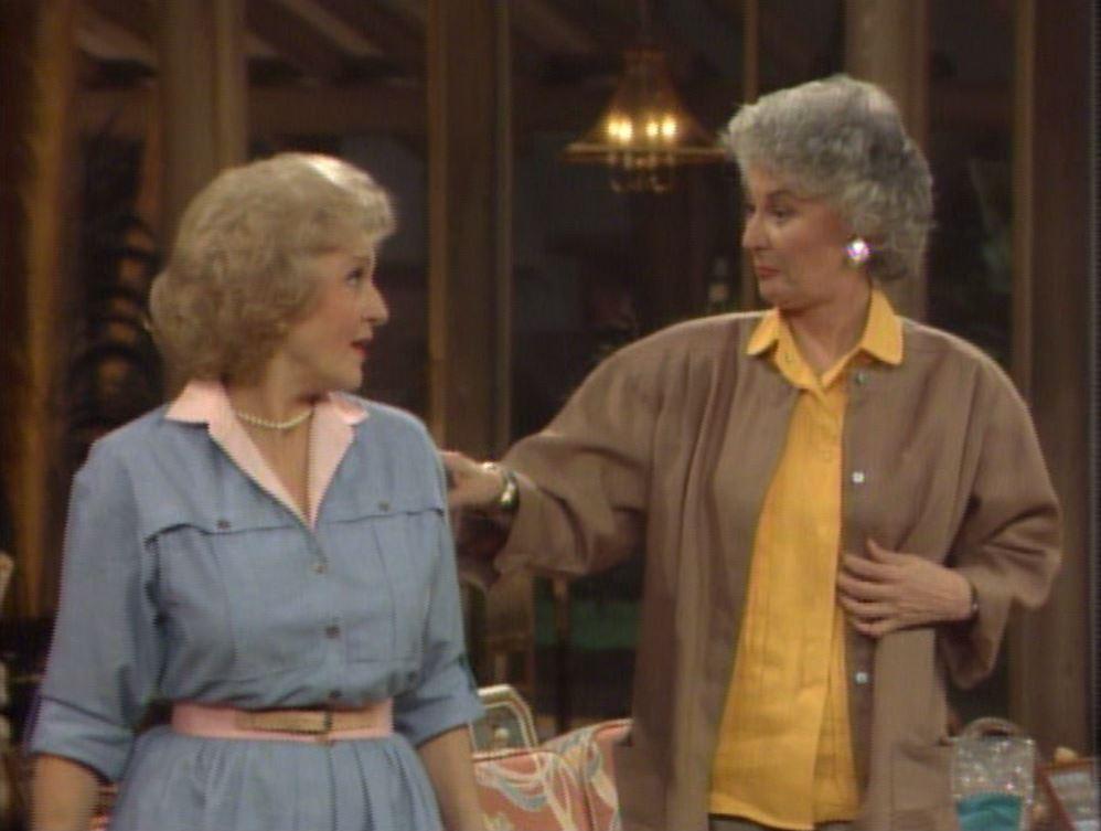 Betty White and Bea Arthur on Golden Girls