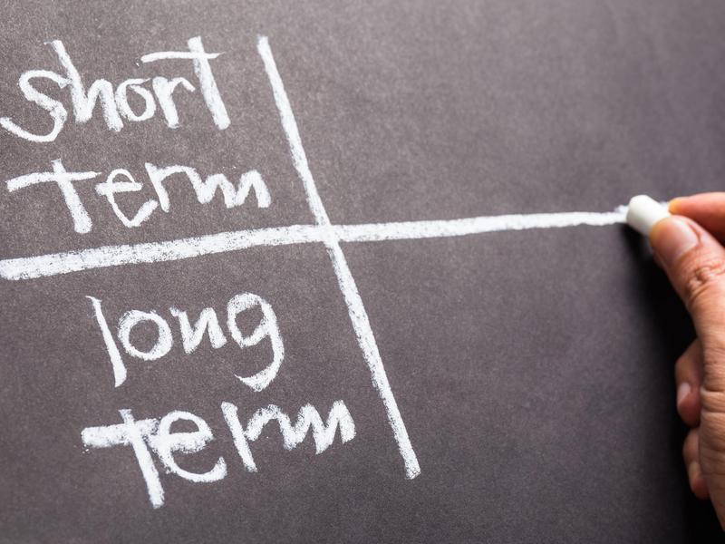 Short term versus long term goals.