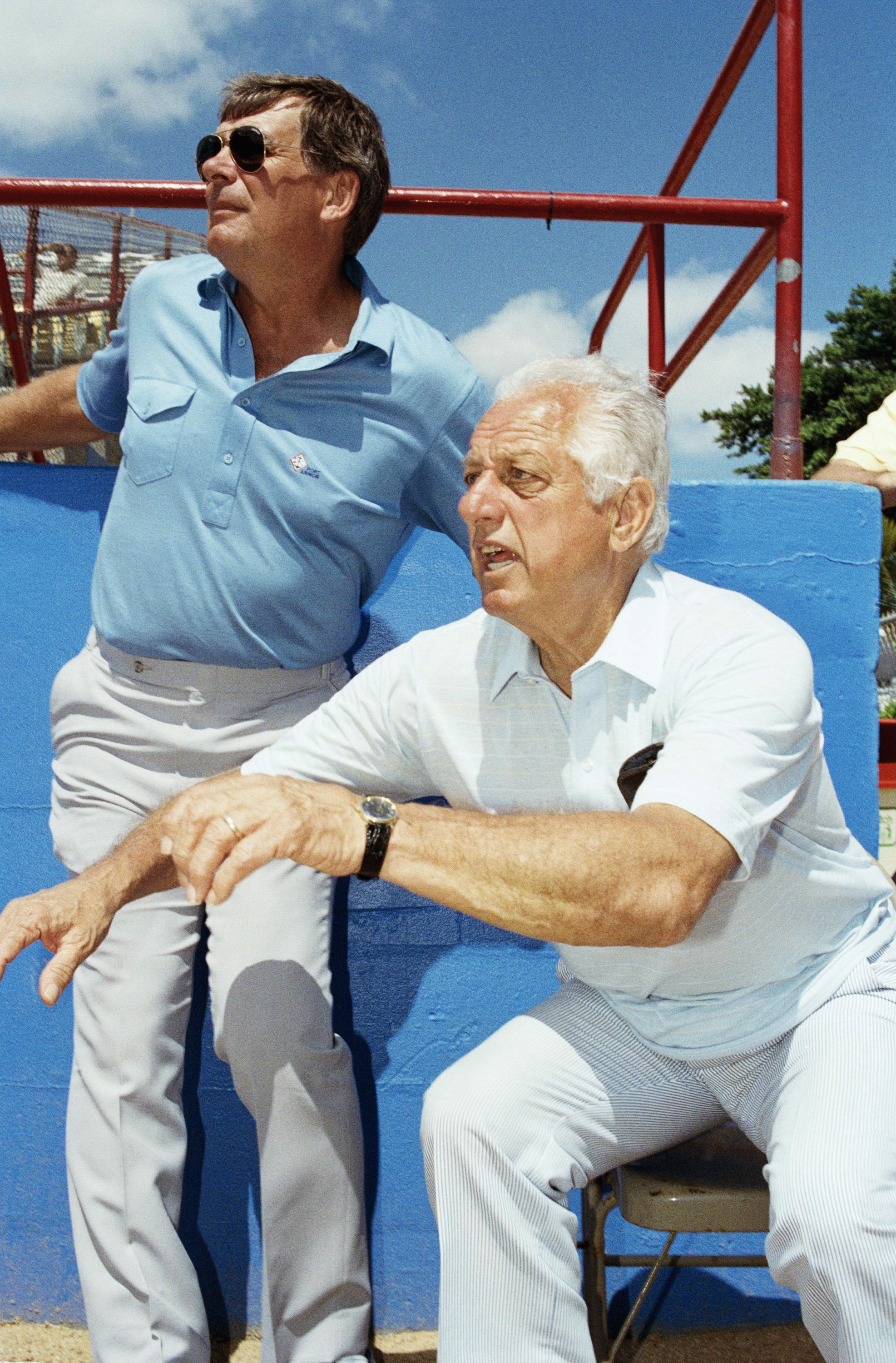 Bobby Cox and Tommy Lasorda