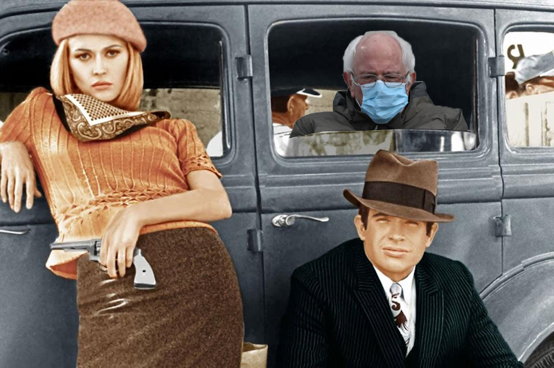 """Bernie Sanders in """"Bonnie and Clyde"""""""