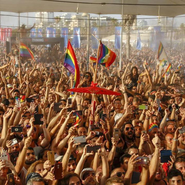 Participants at Tel Aviv Pride