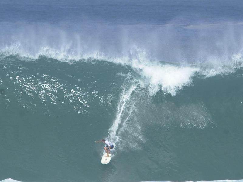Kelly Slater on a big wave