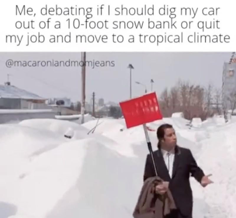 John Travolta in the snow