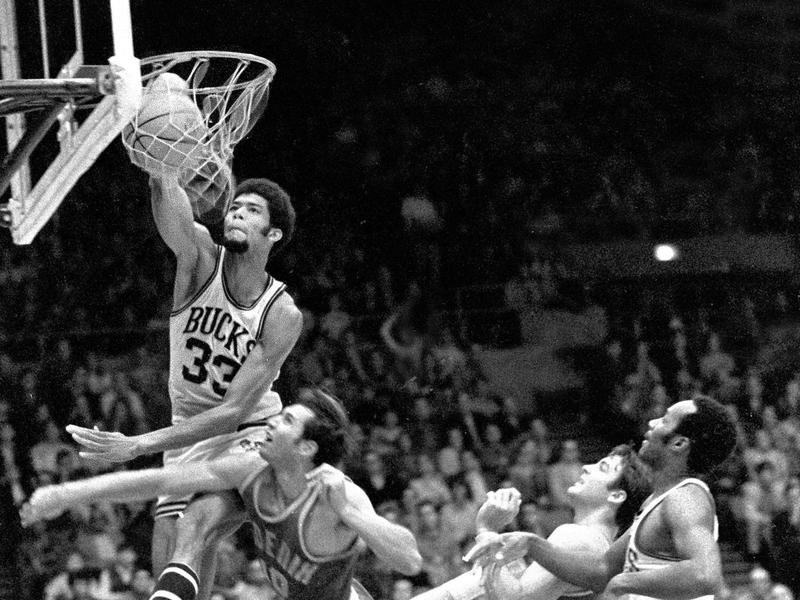 Milwaukee Bucks center Kareem Abdul-Jabbar
