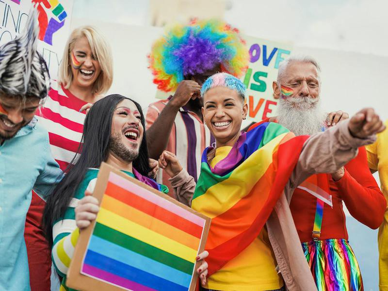 People have fun at gay pride parade
