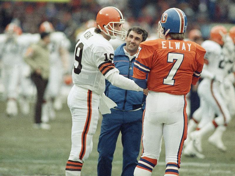 Bernie Kosar and John Elway