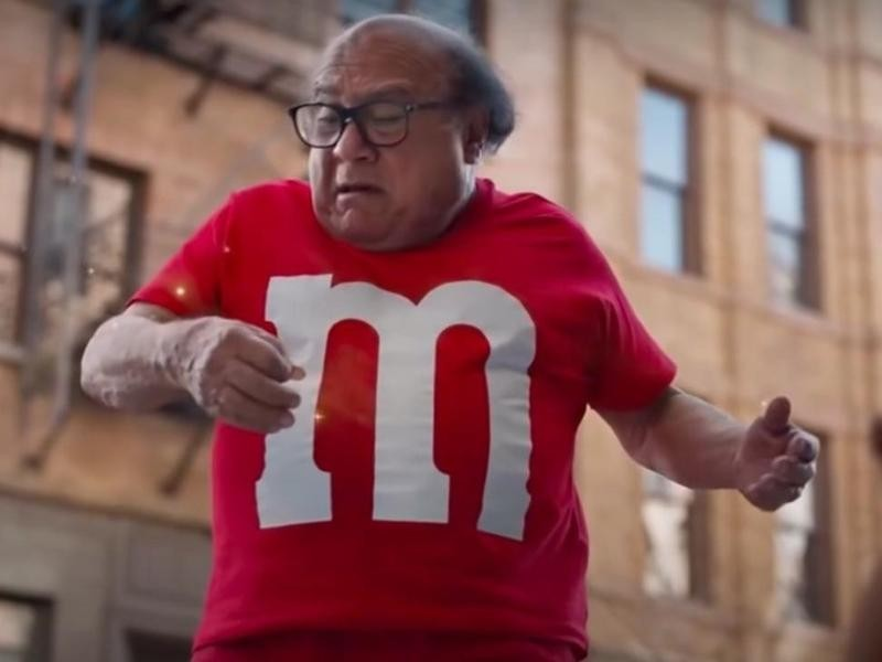 Danny DeVito M&Ms commercial in 2018
