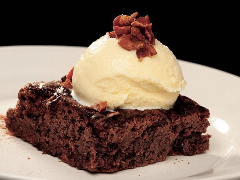 Candied Bacon Brownie