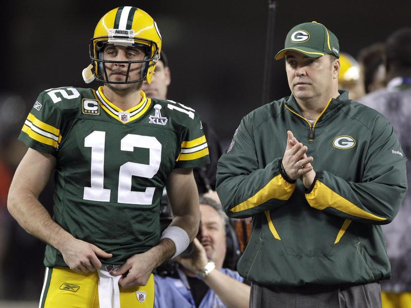 Mike McCarthy and Aaron Rodgers