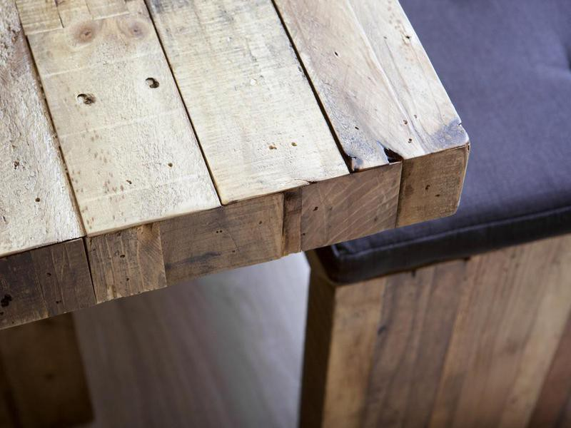 Corner of a wooden table