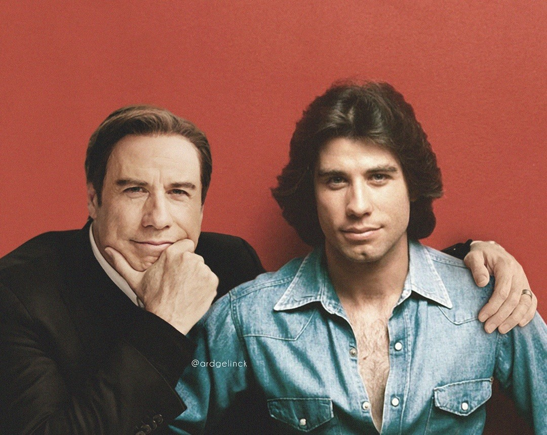 John Travolta young and old