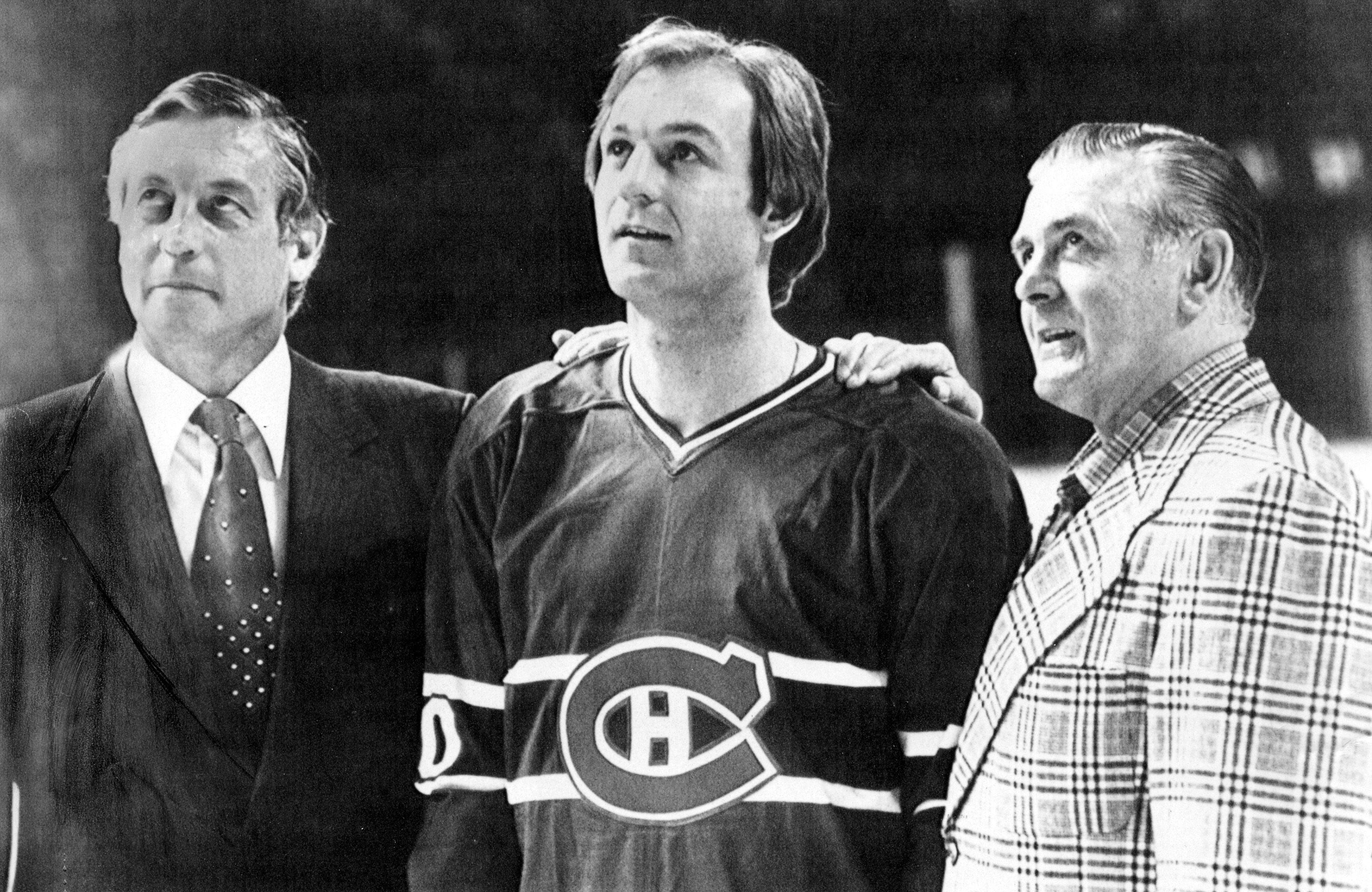 Jean Beliveau, Guy Lafleur and Maurice Richard