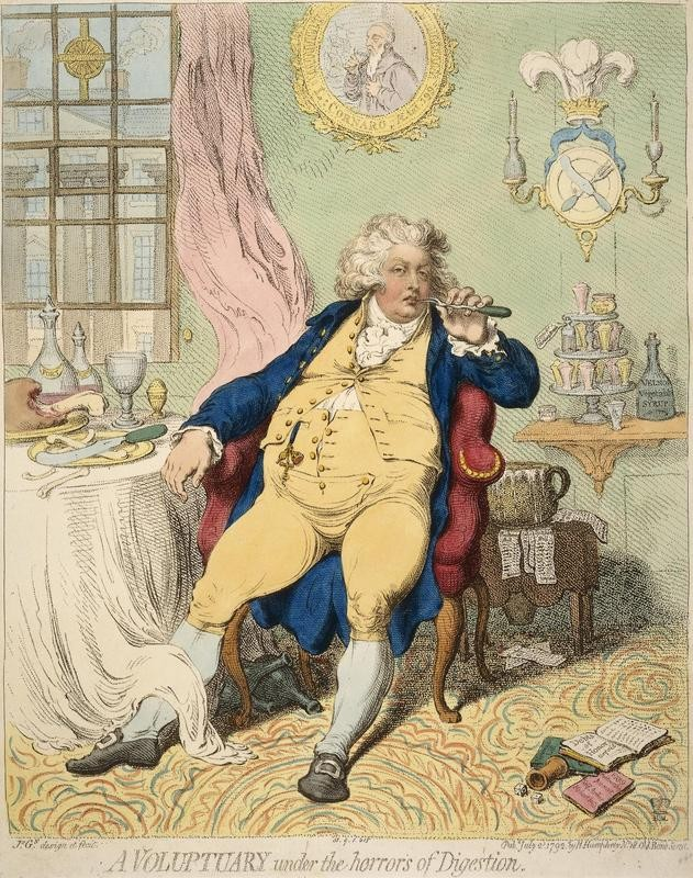 King George IV cariacture by James Gillray